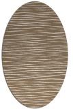 rug #186529 | oval mid-brown natural rug