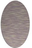 rug #186557 | oval purple stripes rug