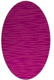 rug #186585 | oval pink natural rug