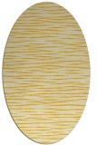 rug #186665   oval yellow natural rug