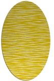 rug #186677 | oval yellow stripes rug