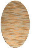 rug #186693 | oval beige stripes rug