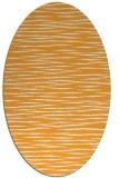 rug #186725 | oval light-orange stripes rug