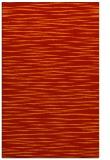 rug #186973 |  orange stripes rug