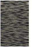 rug #187037 |  black stripes rug