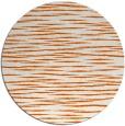 rug #187349 | round red-orange stripes rug