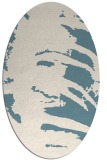 rug #188161 | oval white abstract rug