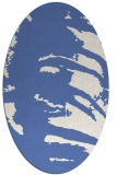 rug #188177 | oval blue animal rug