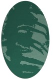 rug #188193 | oval blue-green abstract rug