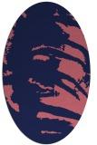 rug #188229 | oval pink natural rug