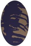 rug #188245   oval blue-violet animal rug
