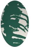 rug #188269   oval green animal rug
