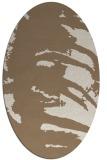 rug #188289 | oval beige abstract rug