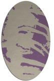 rug #188317 | oval purple animal rug