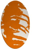 rug #188329 | oval orange natural rug