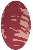 rug #188353   oval pink animal rug