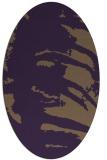 rug #188369 | oval purple rug