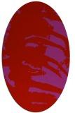 rug #188389 | oval red rug