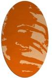 rug #188397 | oval red-orange animal rug