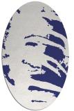 rug #188417 | oval blue animal rug