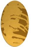 rug #188441 | oval light-orange animal rug