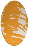 rug #188485   oval white abstract rug