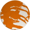 rug #189033 | round orange abstract rug