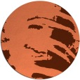 rug #189041 | round orange abstract rug