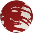 rug #189089 | round red natural rug