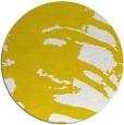 rug #189141   round yellow animal rug