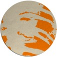 rug #189157 | round orange abstract rug