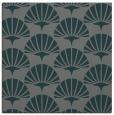 rug #191433 | square green retro rug