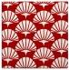 rug #191545 | square red retro rug