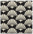rug #191613 | square black retro rug