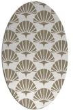 rug #191657   oval beige graphic rug