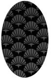 rug #191665 | oval black retro rug