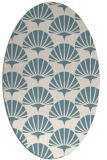 rug #191681 | oval white graphic rug