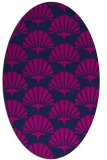 rug #191685 | oval blue graphic rug