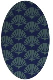 rug #191689 | oval blue-green rug