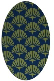 rug #191693   oval blue graphic rug