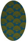 rug #191717 | oval blue-green rug