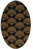 rug #191773 | oval mid-brown retro rug