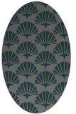 rug #191785   oval green graphic rug