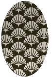 rug #191834 | oval retro rug