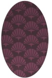 rug #191881 | oval purple rug