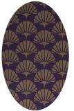 rug #191889 | oval mid-brown retro rug