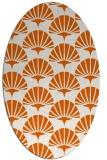 rug #191925 | oval red-orange retro rug