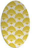 rug #191933 | oval white graphic rug