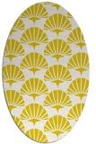 rug #191933 | oval white rug