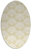 rug #191949 | oval yellow retro rug